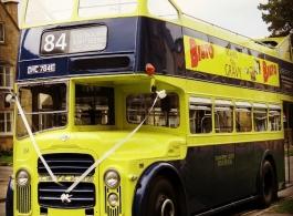 Open top bus for weddings in Cheltenham
